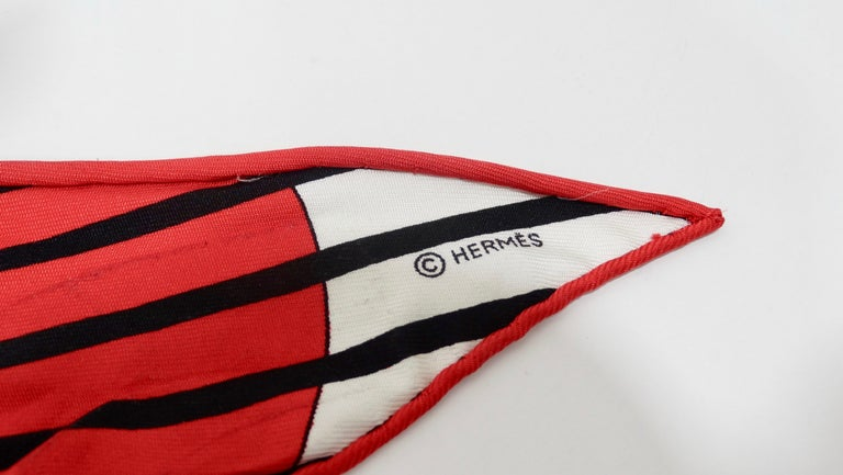 Hermes H20 Red Pointu Scarf Cap 2
