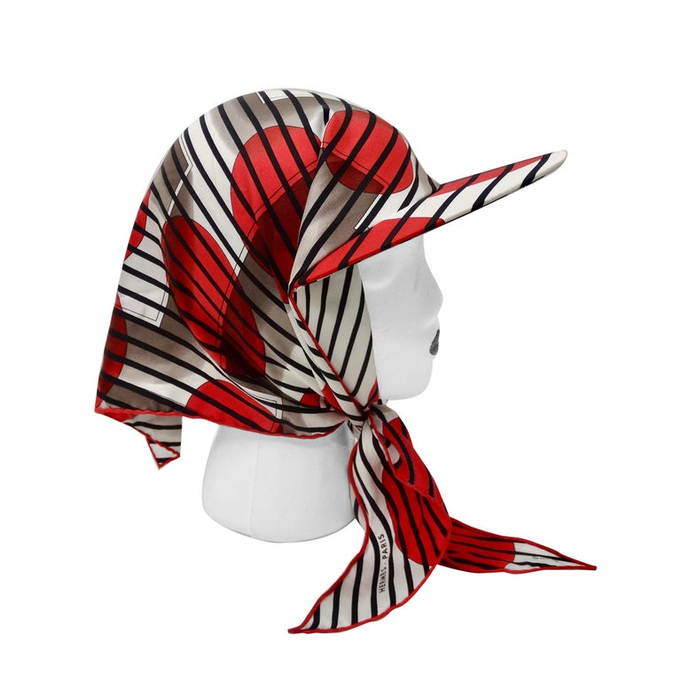 Hermes H20 Red Pointu Scarf Cap