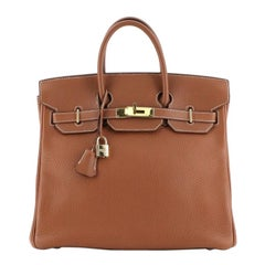 Hermes HAC Birkin Bag Etrusque Clemence with Gold Hardware 32