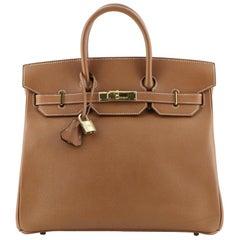 Hermes HAC Birkin Bag Gold Courchevel with Gold Hardware 32