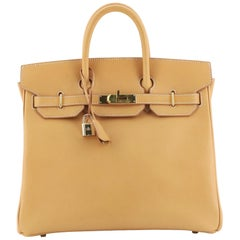 Hermes HAC Birkin Bag Natural Vache Natural with Gold Hardware 32