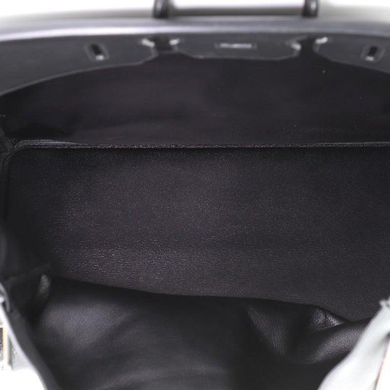 Hermes HAC Birkin Bag Noir Clemence with Gold Hardware 50 For Sale 1