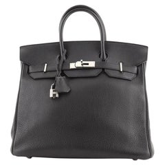 Hermes HAC Birkin Bag Noir Togo with Palladium Hardware 32
