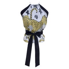 Hermès Halter Wrap Top Les Léopards Size S/M
