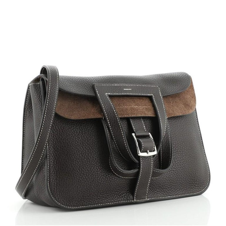 Hermes Halzan Bag Togo 31 In Good Condition For Sale In New York, NY