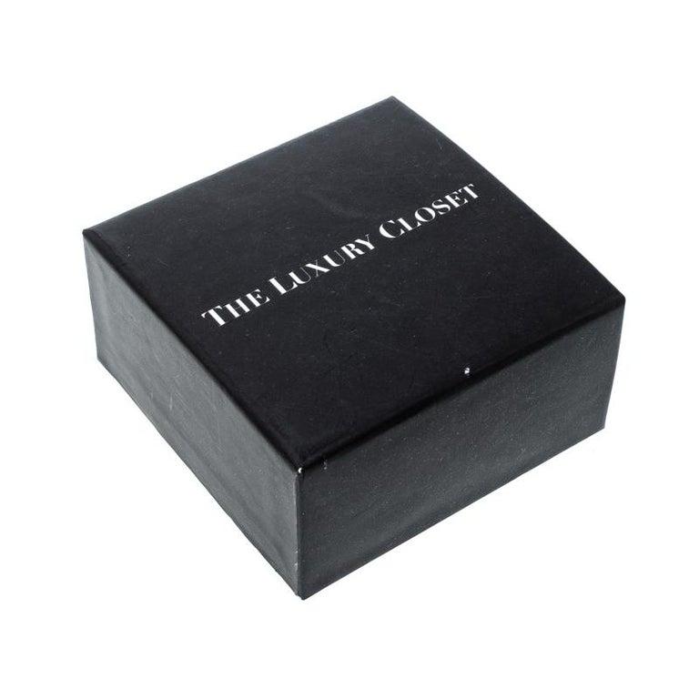 Hermes Hapi 3 Dark Green Leather Palladium Plated Wrap Bracelet For Sale 2