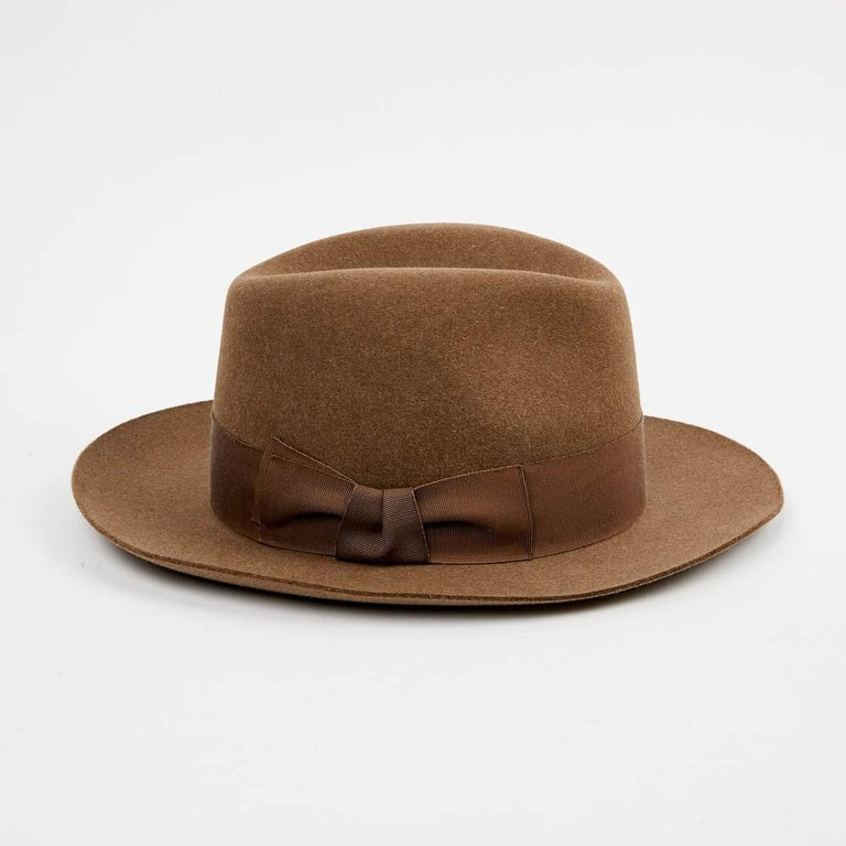 Hermes Hat in Beige Size 57 For Sale 1