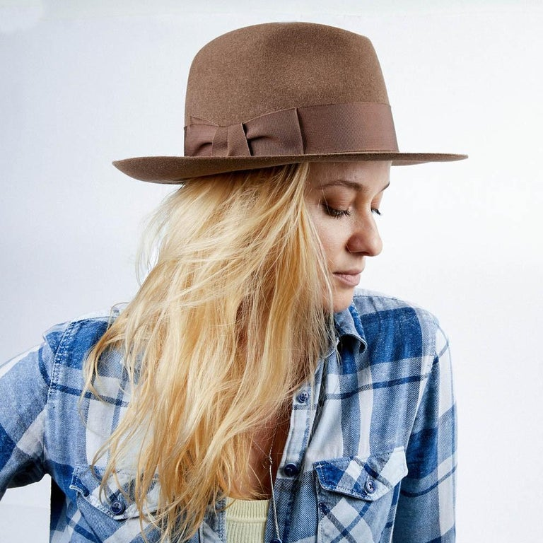 Hermes Hat in Beige Size 57 For Sale 2