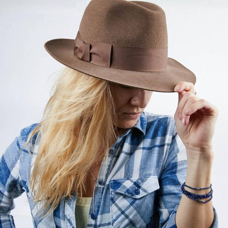 Hermes Hat in Beige Size 57 For Sale 3