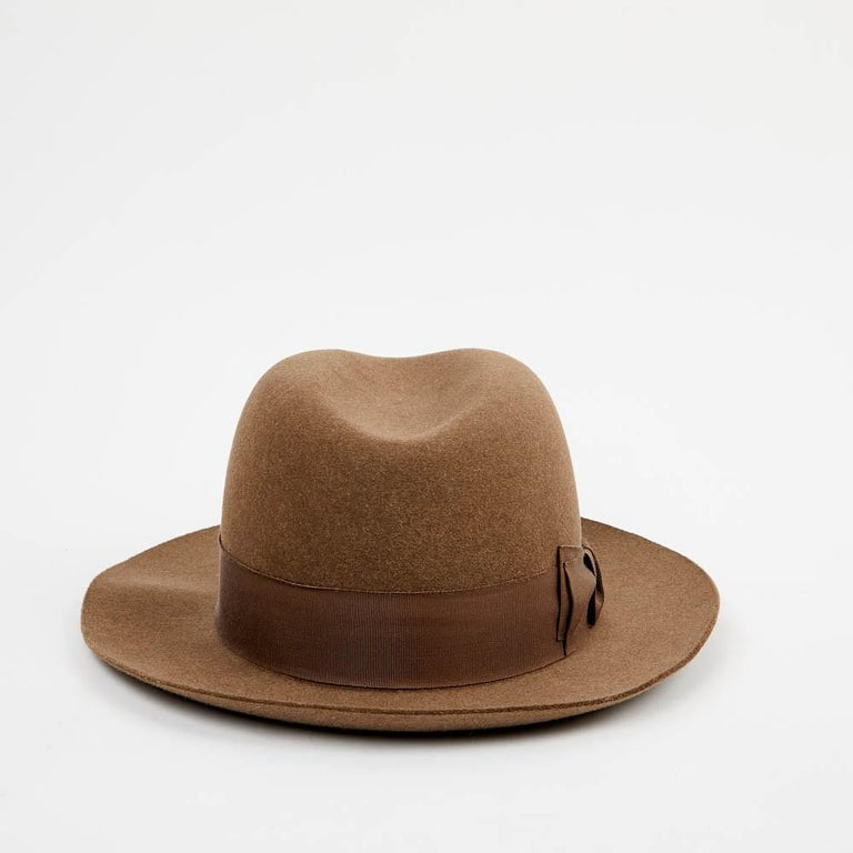 Hermes Hat in Beige Size 57 For Sale 4