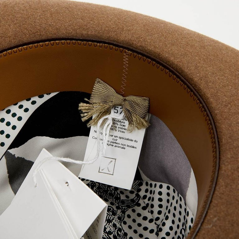 Hermes Hat in Beige Size 57 For Sale 5