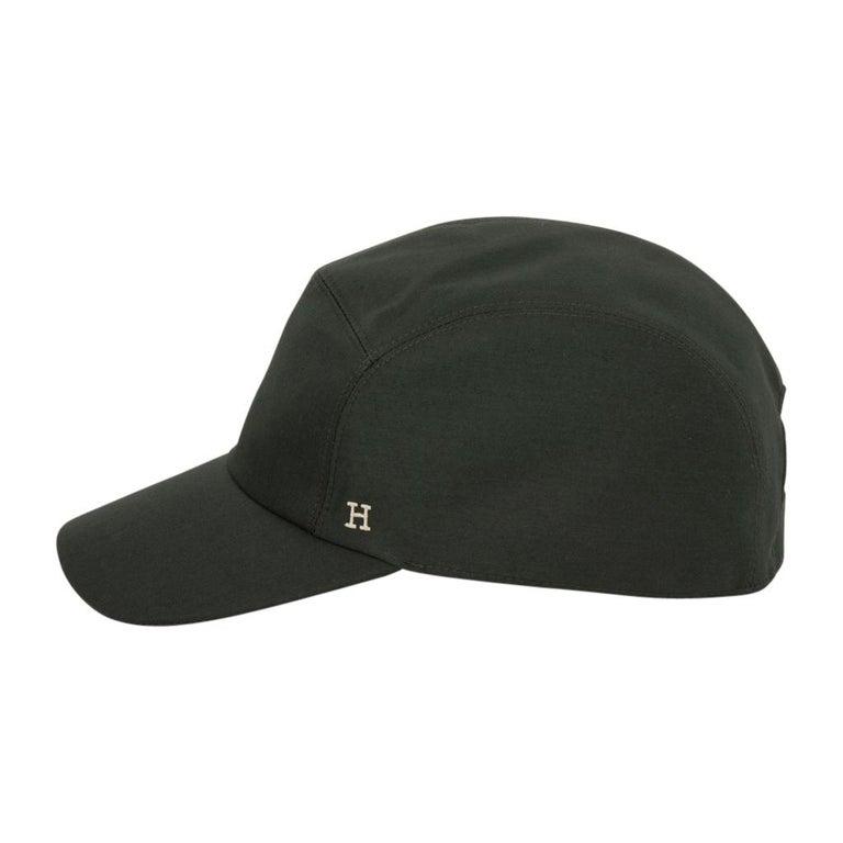 Men's Hermes Hat Nevada Cap Cotton Serge Vert Anglais 59  For Sale