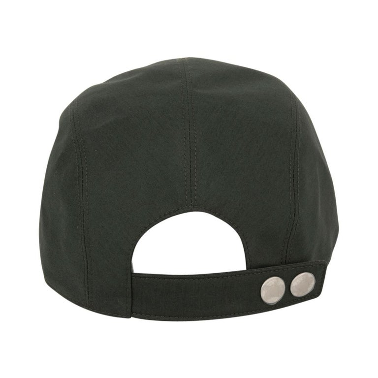 Hermes Hat Nevada Cap Cotton Serge Vert Anglais 59  For Sale 4