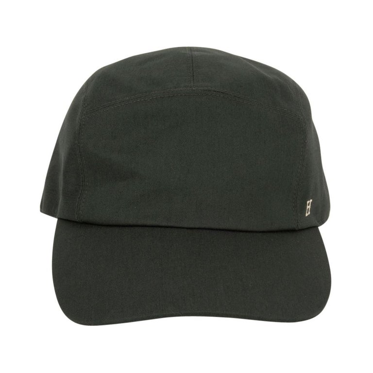 Hermes Hat Nevada Cap Cotton Serge Vert Anglais 59  For Sale