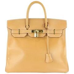 Hermès Haut à Courroies Birkin Gold 32 1hz1130 Brown Leather Satchel