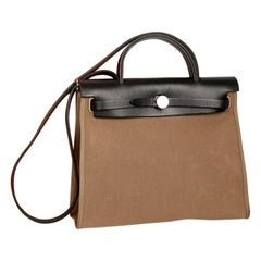 Hermes Herbag Ebony Leather