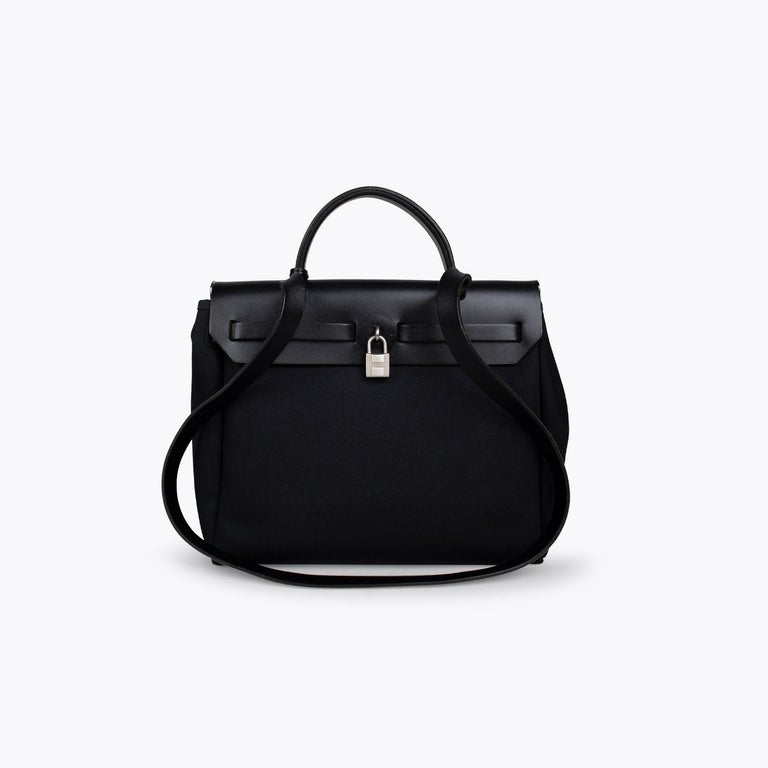 Black Hermès Herbag PM Bag