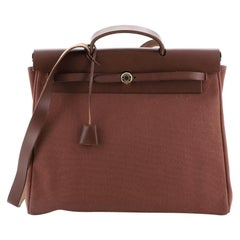 Hermes Herbag Toile And Leather GM