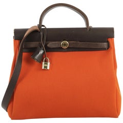 Hermes Herbag Vibrato and Leather PM