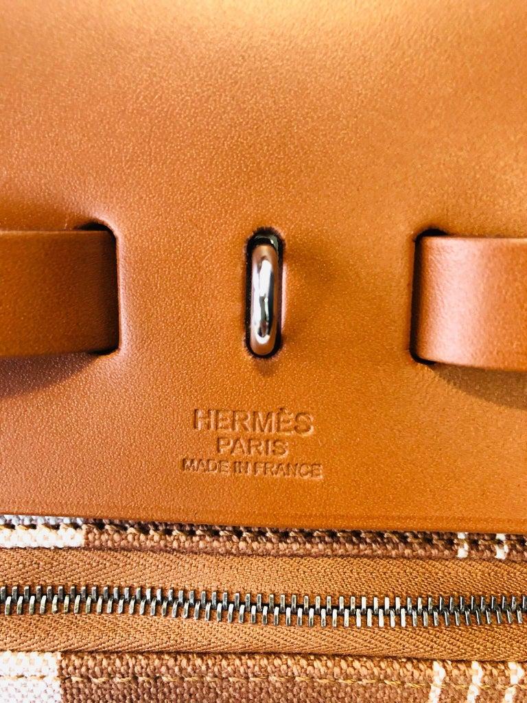 Hermes Herbag Zip 39 Retourne Ecru Beige - XL- New Condition For Sale 6