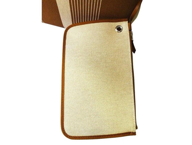 Women's Hermes Herbag Zip 39 Retourne Ecru Beige - XL- New Condition For Sale