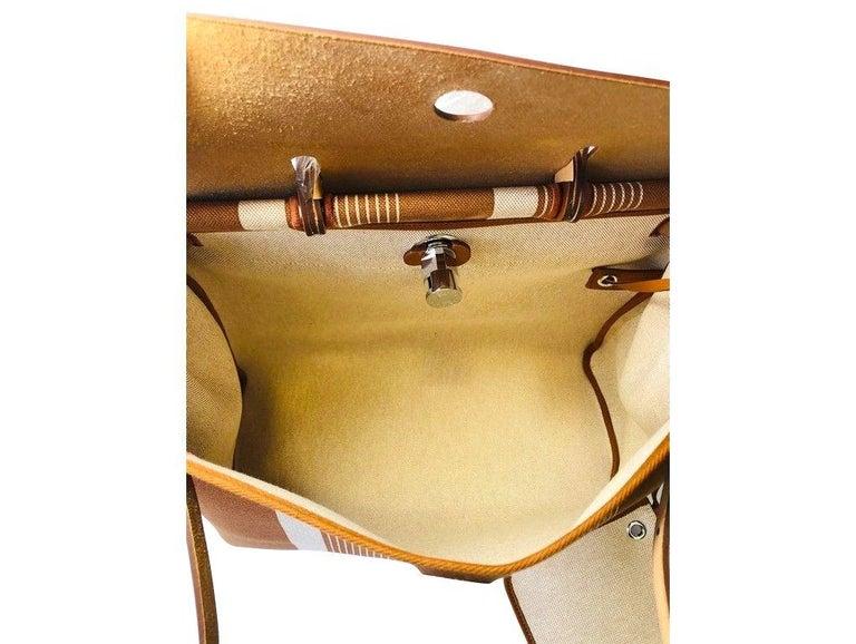 Hermes Herbag Zip 39 Retourne Ecru Beige - XL- New Condition For Sale 1