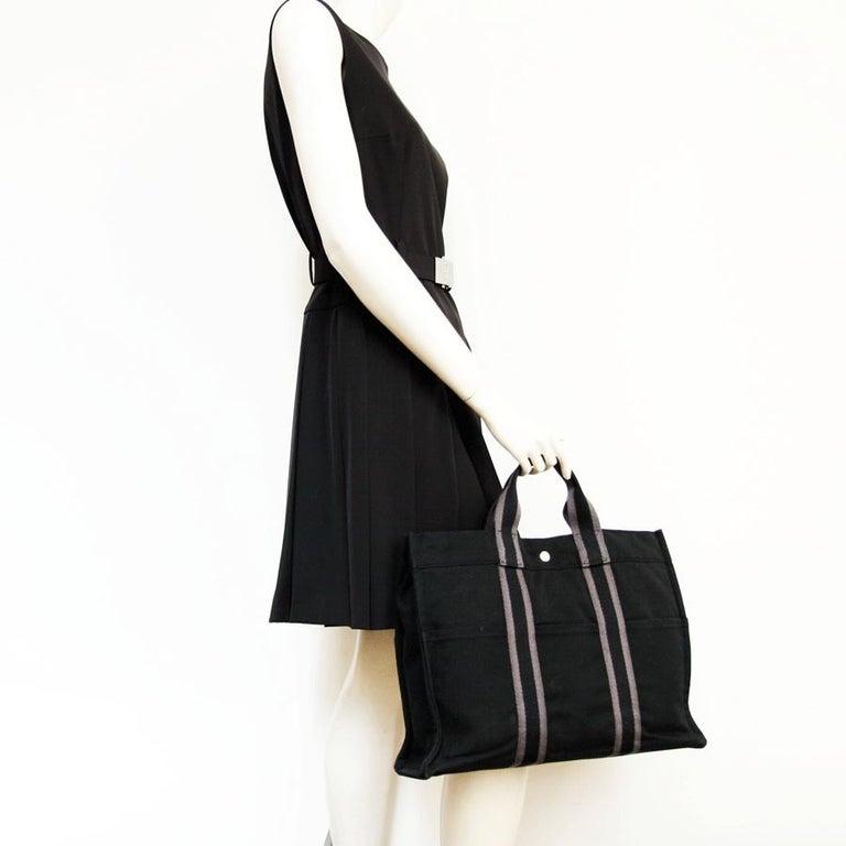 Hermès black canvas