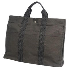 HERMES Herline tote MM unisex tote bag 100951M-01 gray