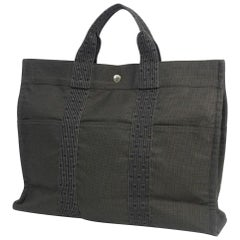 HERMES Herline tote MM unisex tote bag gray