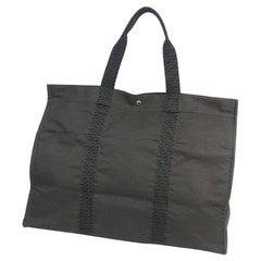 HERMES Herline toteT GM unisex tote bag gray