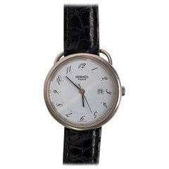 Hermes Hermes Vintage Arceau Watch with Crocodile Wrist Strap
