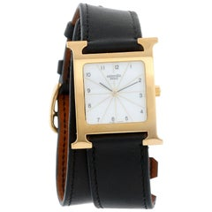 Hermes Heure H 18 Karat Yellow Gold-Plated Ladies Watch HH1.501