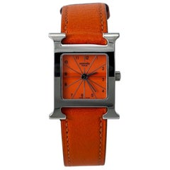 Hermès Heure H HH1-210, Orange Dial, Certified and Warranty