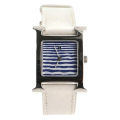 Hermès Heure H Quartz Watch Stainless Steel and Leather 21