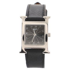 Hermes Heure H Quartz Watch Stainless Steel and Leather