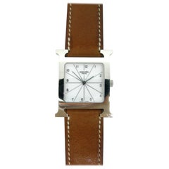 Hermès Heure H Stainless Steel Quartz Wristwatch