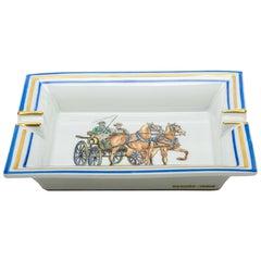 Hermes Horse Carriage Porcelain Ashtray