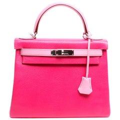 Hermès Horseshoe Stamp Bi-Color Kelly 28 Bag