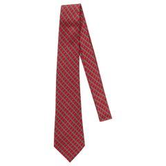 Hermès Hot Pink Geometric Silk Tie