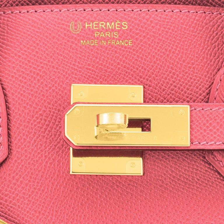 Hermes HSS Birkin 30cm Rose Azalee Gris Mouette Epsom Gold NEW VIP EXCLUSIVE New or Never Worn. Pristine Condition (with plastic on hardware)  Perfect gift! Comes in full set with clochette, lock, keys, raincoat, dust bag, and orange Hermes