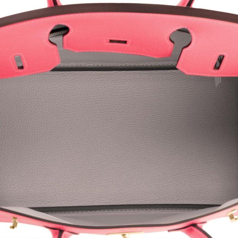 Pink Hermes HSS Birkin 30cm Rose Azalee Gris Mouette Epsom Gold NEW VIP EXCLUSIVE For Sale