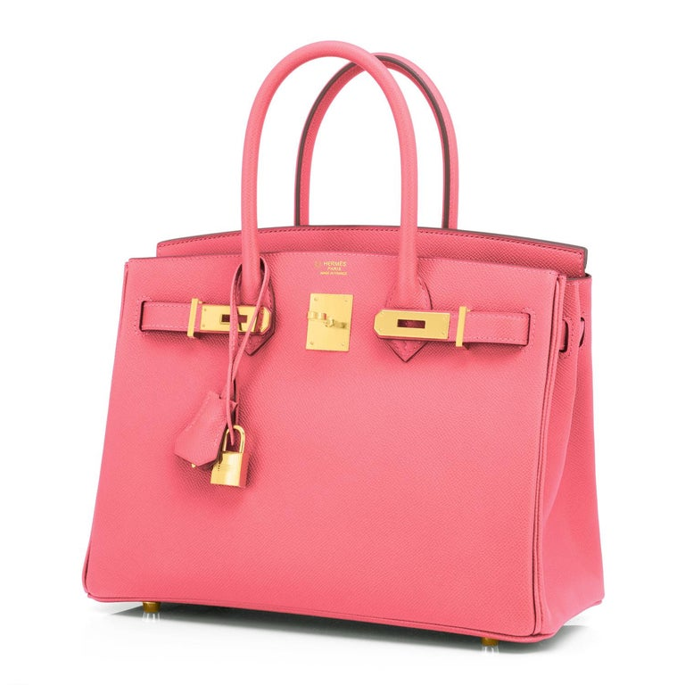 Women's Hermes HSS Birkin 30cm Rose Azalee Gris Mouette Epsom Gold NEW VIP EXCLUSIVE For Sale