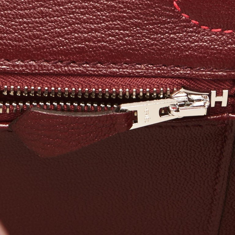 Hermes HSS Birkin 30cm Rouge Casaque Bordeaux Red Horseshoe VIP Y Stamp, 2020 For Sale 6