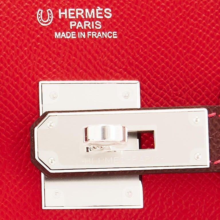 Hermes HSS Birkin 30cm Rouge Casaque Bordeaux Red Horseshoe VIP Y Stamp, 2020 For Sale 8