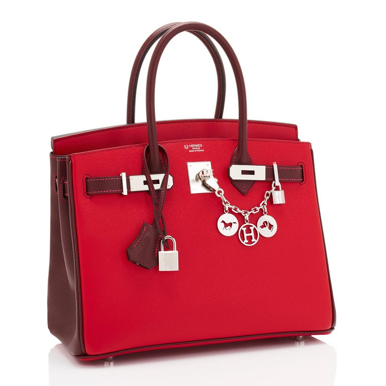 Hermes HSS Birkin 30cm Rouge Casaque Bordeaux Red Horseshoe VIP Y Stamp, 2020 Devastatingly gorgeous! This VIP custom order 30cm Horseshoe Stamp Birkin is a one-of-a-kind world exclusive! Just purchased from Hermes store; bag bears new interior 2020