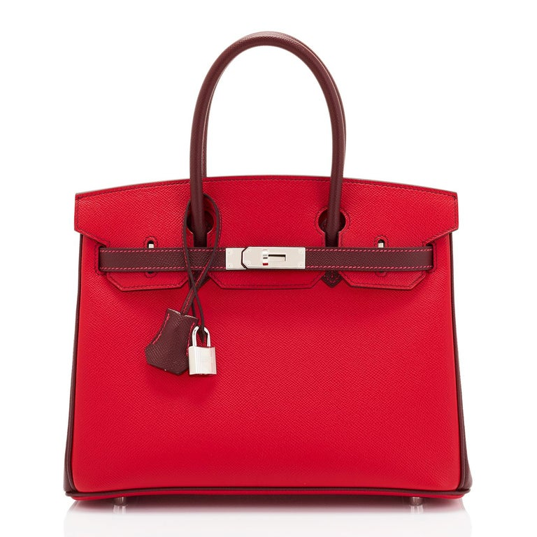 Hermes HSS Birkin 30cm Rouge Casaque Bordeaux Red Horseshoe VIP Y Stamp, 2020 In New Condition For Sale In New York, NY