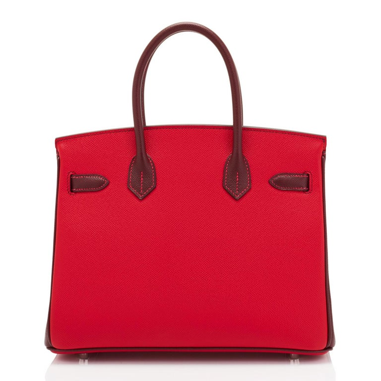 Hermes HSS Birkin 30cm Rouge Casaque Bordeaux Red Horseshoe VIP Y Stamp, 2020 For Sale 1