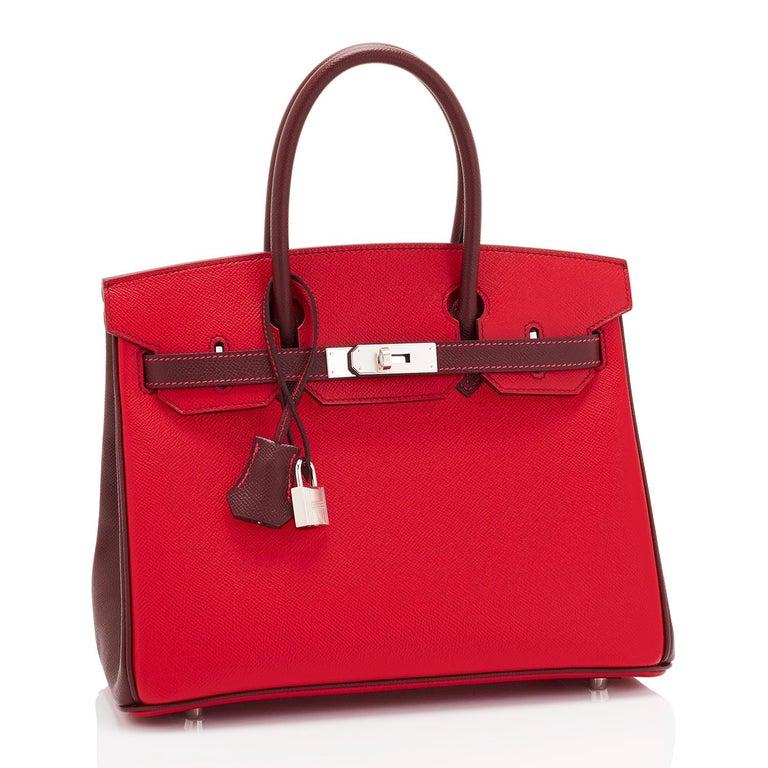 Hermes HSS Birkin 30cm Rouge Casaque Bordeaux Red Horseshoe VIP Y Stamp, 2020 For Sale 2