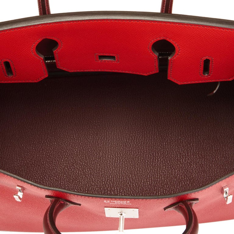 Hermes HSS Birkin 30cm Rouge Casaque Bordeaux Red Horseshoe VIP Y Stamp, 2020 For Sale 5