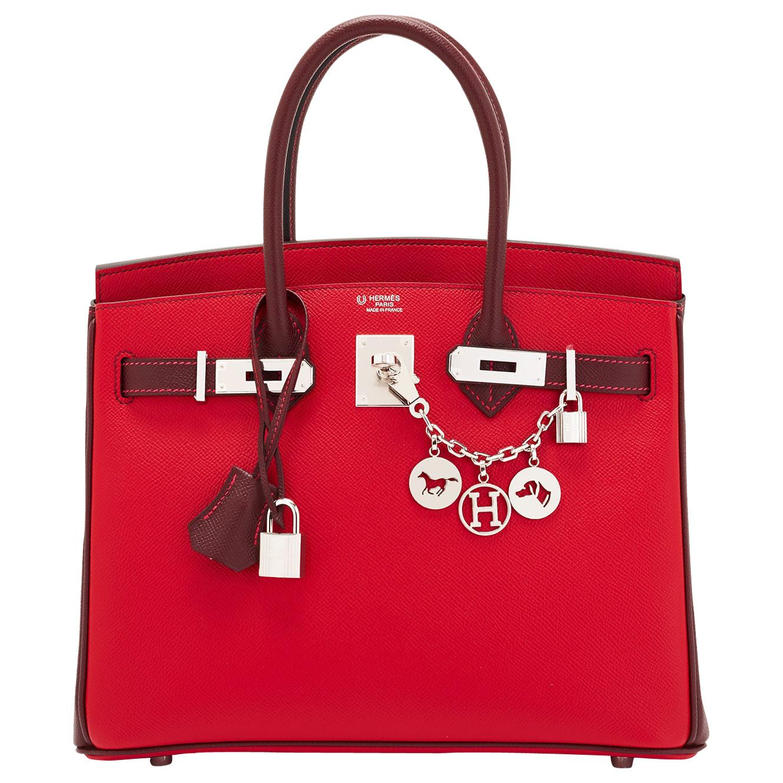 Hermes HSS Birkin 30cm Rouge Casaque Bordeaux Red Horseshoe VIP